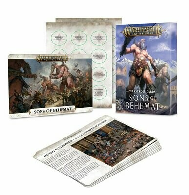 Warscroll Cards: Schriftrollen-Karten: Sons of Behemat - Games Workshop