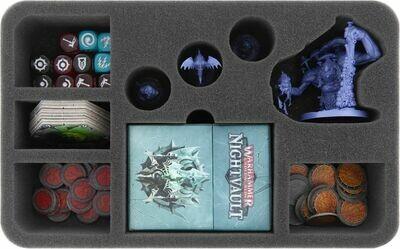 Schaumstoffeinlage für Warhammer Underworlds: Nightvault - Mollogs Mob  - Feldherr