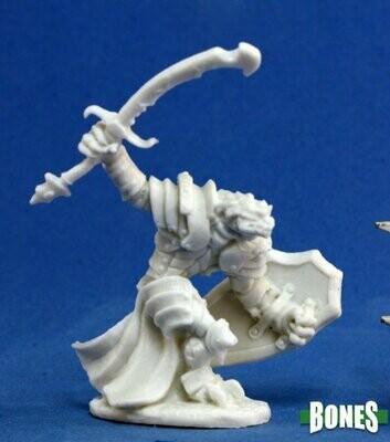 Dragonman Warrior - Bones Black - Reaper Miniatures