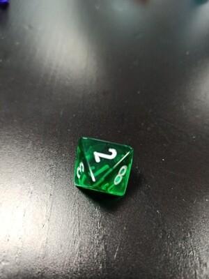 W8 Würfel - D8 Dice - Translucent - Green Grün
