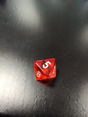 W8 Würfel - D8 Dice - Translucent - Orange