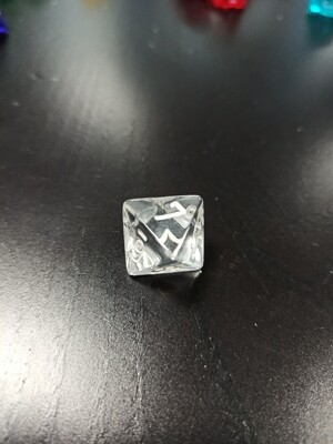 W8 Würfel - D8 Dice - Translucent - Clear