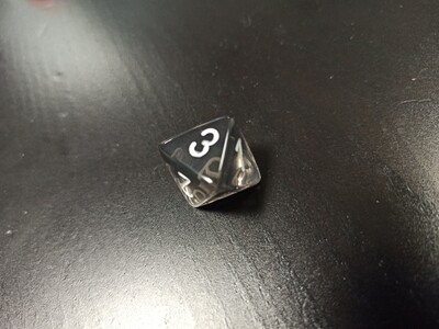 W8 Würfel - D8 Dice - Translucent - Smoke White
