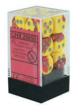 Red-Yellow silver - 16mm (12) - Chessex
