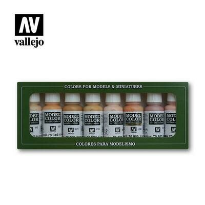 Face & Skin Tones Painting Set - Vallejo Model Color - Farbset