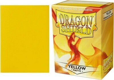 Yellow Matte Standard Size - Dragon Shield