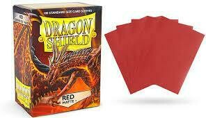 Red Matte Standard Size - Dragon Shield