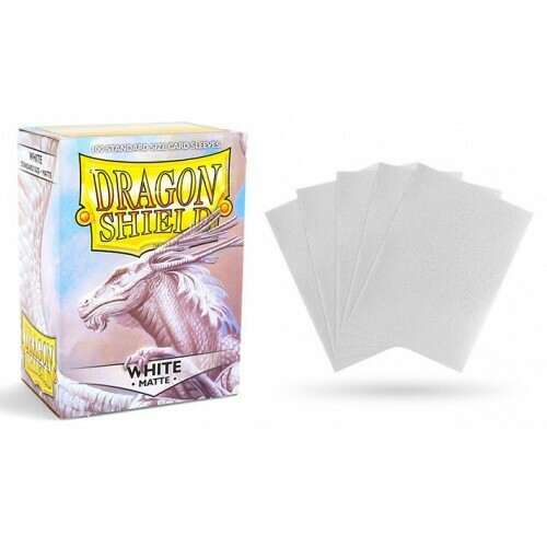White Matte Standard Size - Dragon Shield