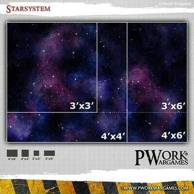 Star System (3x3) - Wargames Terrain Mat- in Mousepad-Qualität - Pwork Wargames