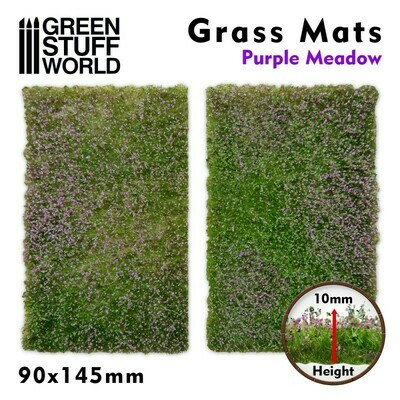 Grasmattenausschnitte - Lila Wiese - Grass Mats Purple Meadow - Greenstuff World