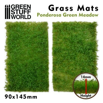Grasmattenausschnitte - Ponderosa Grüne Wiese - Ponderosa Green Meadow - Greenstuff World