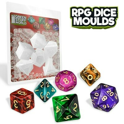 RPG Würfelformen Dice Moulds - Greenstuff World