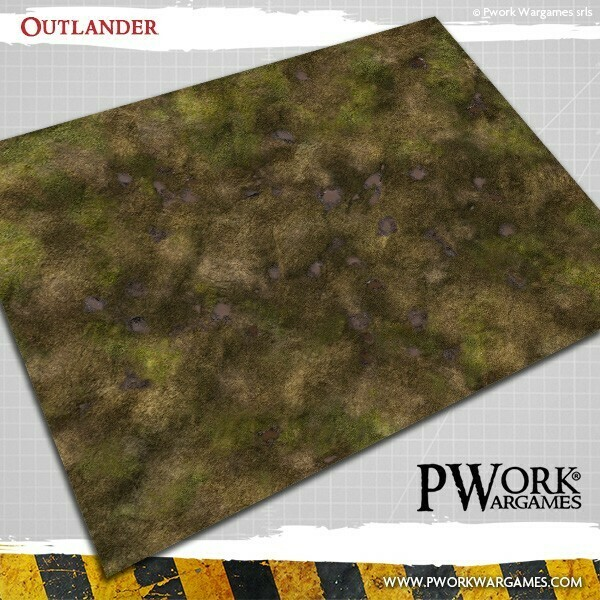 Outlander 4'x6'- Wargames Terrain Mat Rubber- PWork Wargames