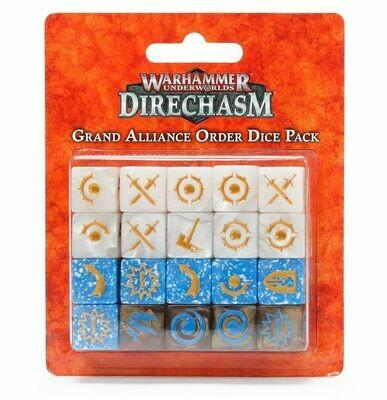 Warhammer Underworlds: Würfel des Großen Bündnisses der Ordnung Grand Alliance Order Dice Pack - Warhammer Underworlds - Games Workshop
