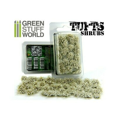 Shrubs TUFTS - 6mm self-adhesive - WHITE- Greenstuff World