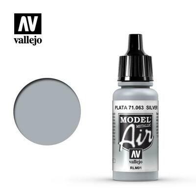 Silver (Metallic) 17ml - Vallejo Model Air