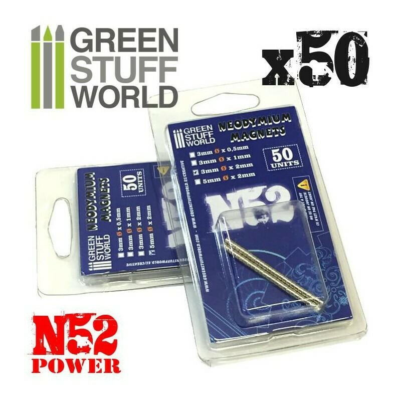 Neodymium Magnets 3x1mm - 50 units (N52)- Greenstuff World