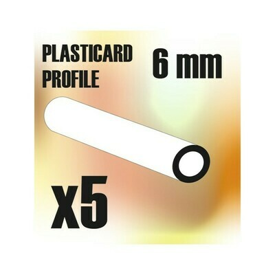 ABS Plasticard - Profile TUBE 6mm - Greenstuff World