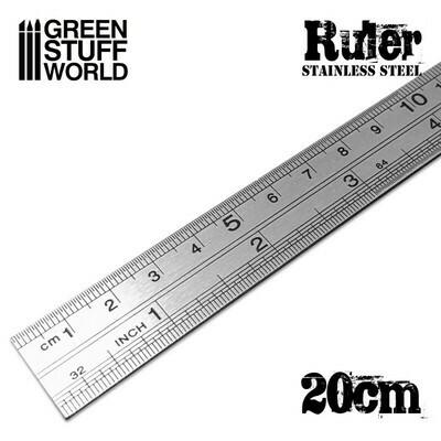 Stainless Steel RULER Lineal Massstab - Greenstuff World