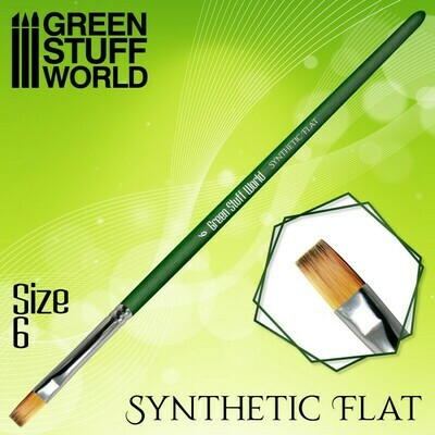 GREEN SERIES Flat Synthetic Brush Size 6 - Greenstuff World