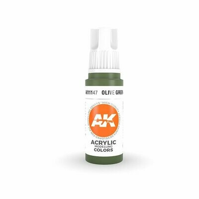 Olive-Green -(3rd-Generation)-(17mL) - AK Interactive