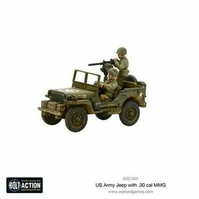 US Army Jeep with 30 Cal MMG - Bolt Action - Warlord Games