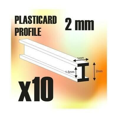 ABS Plasticard - Profile DOUBLE-T 2 mm - Greenstuff World