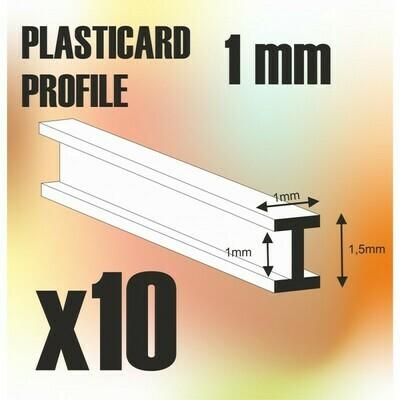 ABS Plasticard - Profile DOUBLE-T 1 mm - Greenstuff World