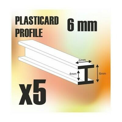 ABS Plasticard - Profile H-Beam Columns 6mm - Greenstuff World
