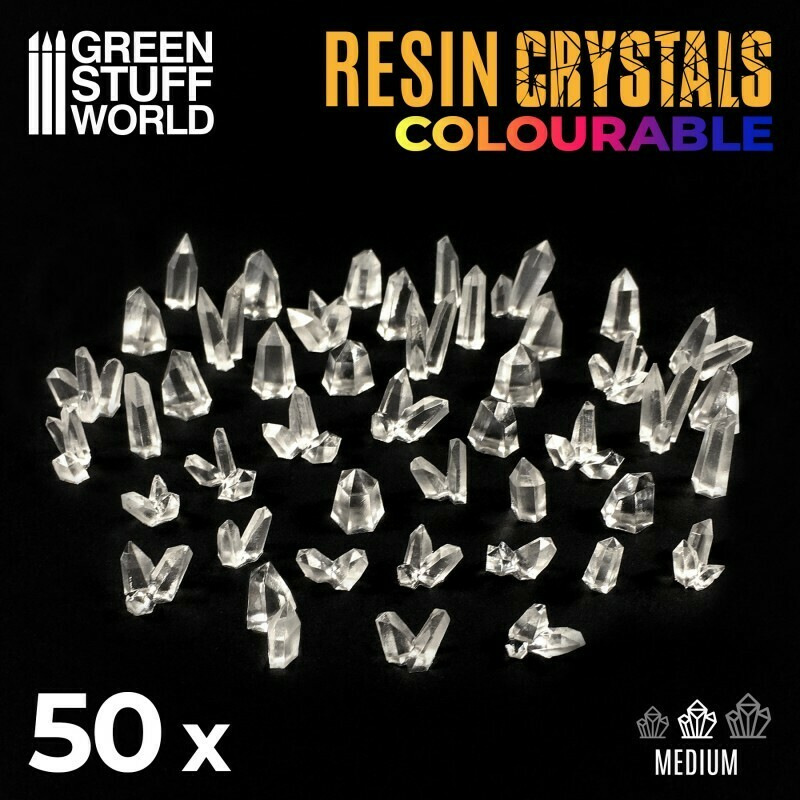 CLEAR Resin Crystals - Medium - Greenstuff World