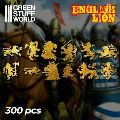 English Lion Symbols - Greenstuff World
