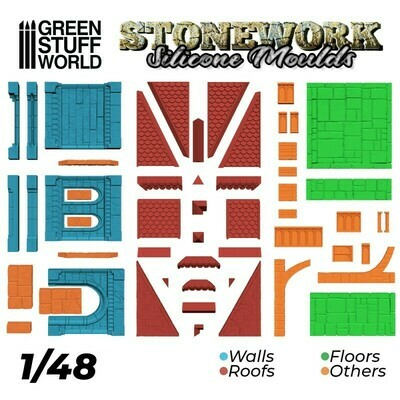 Silicone Moulds - Stonework - Greenstuff World