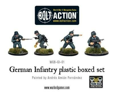 WWII German Infantry plastic set - Warlord Games
