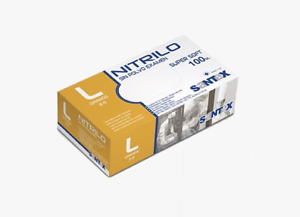 MyClean ni-touch PF Nitril-Einmalhandschuh Puderfrei - Größe L - 100x - Airbrush