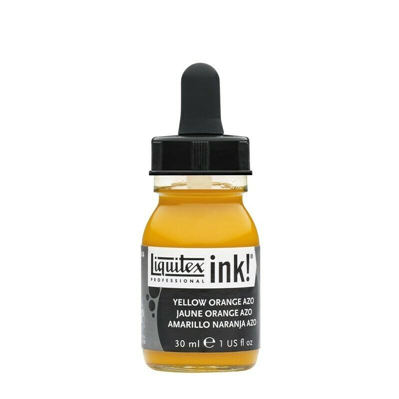 Liquitex Professional Acrylic Ink 30ml Flasche Gelborange Azo (414) - Yellow Orang Azo