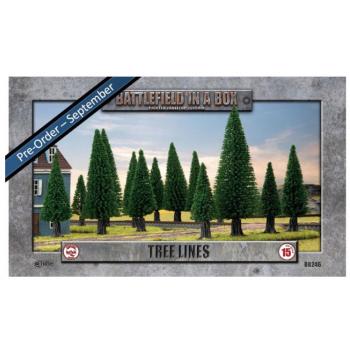 Battlefield in a Box - Tree Lines (x4) - 15mm Scale - GF9