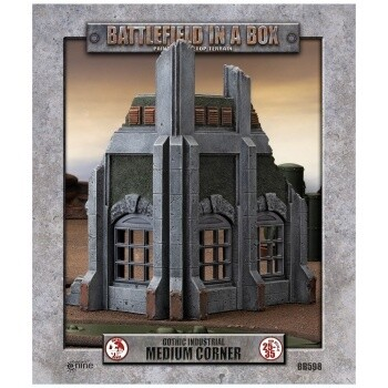 Battlefield in a Box - Gothic Industrial Ruins - Medium Corner - 25-35mm Scale - GF9