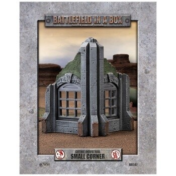 Battlefield in a Box - Gothic Industrial Ruins - Small Corner - 25-35mm Scale - GF9