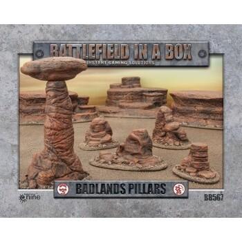 Battlefield in a Box - Badland's Pillars - 25-35mm Scale - GF9