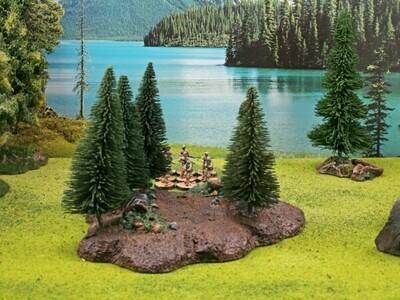 Waldbase mit Bäumen 10 St., abnehmbar!  - Ziterdes