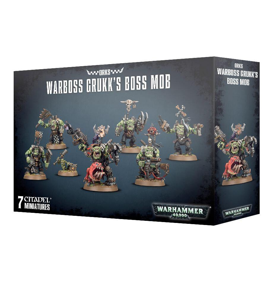 Orks Ork Warboss Grukk's Boss Mob - Warhammer 40K - Games Workshop