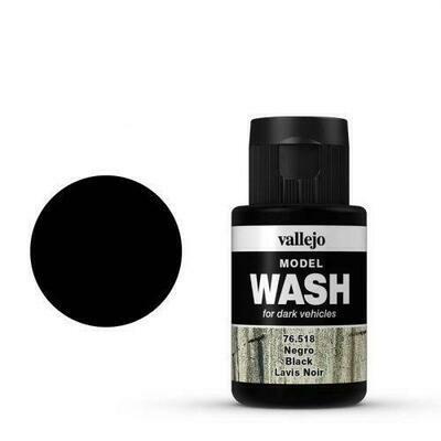 Model Color Wash Black 17ml - Vallejo - Farben