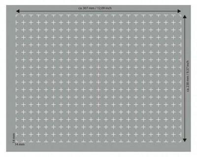 HS030RS half-size Raster-Schaumstoff 30 mm selbstklebend - Feldherr