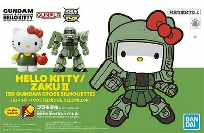 SD Gundam Cross Silhouette Hello Kitty / Zaku II - Bandai - Gunpla