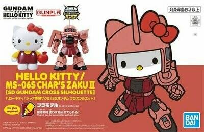 SD Gundam Cross Silhouette Hello Kitty / MS-06S Char's Zaku II - Bandai - Gunpla
