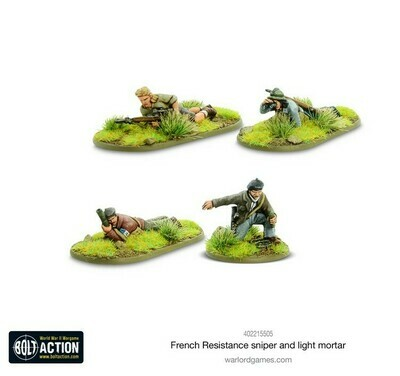 French Resistance Sniper and Light Mortar Teams   - Bolt Action