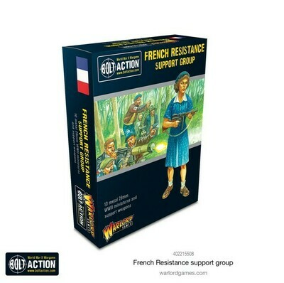 French Resistance Support Group  - Bolt Action - Warlord Games