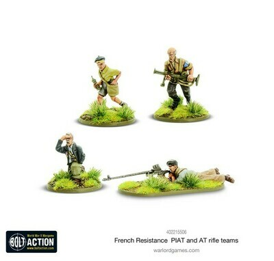 French Resistance PIAT & Anti-tank rifle teams - Bolt Action