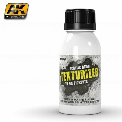 Texturizer - Acrylic Resin - To Fix Pigments - AK Interactive