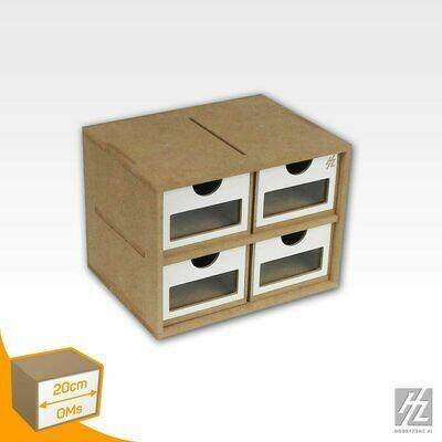 Schubladenmodul schmall x 4  - HobbyZone